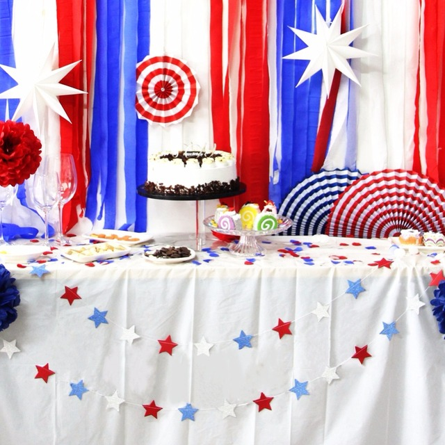 Sunbeauty New 38pcsset Independence Day Party Decoration Diy Party