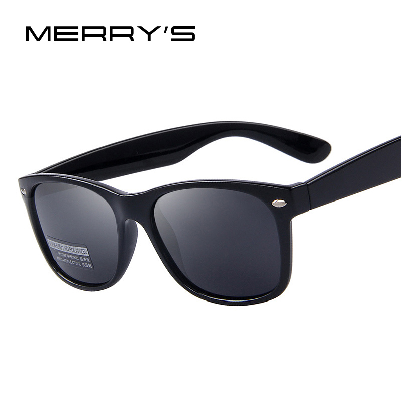 MERRY'S Mode Polarized Sunglasses Pria Merek Designer Klasik Mens Retro Keling Shades Sun glasses UV400 S'683