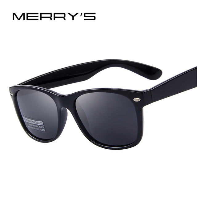 a7a8fcb2e6 MERRY S Fashion Polarized Sunglasses Men Brand Designer Classic Mens Retro  Rivet Shades Sun glasses UV400 S 683