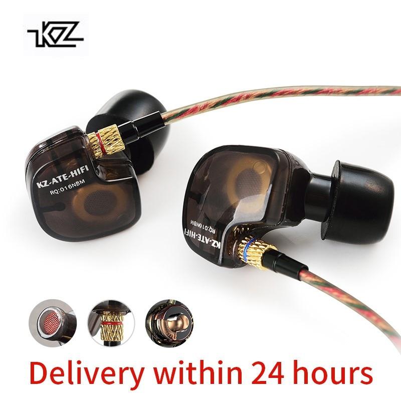 KZ ATES MANGÉ ATRHD9 Casque Cuivre Driver3.5mm dans L'oreille Écouteurs HiFi Sport Dans L'oreille Écouteur Pour Téléphone iPhone Xiaomi
