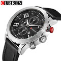 CURREN Mens Watches Top Brand Luxury Men Casual Quartz Watch Men Leather Strap Waterproof Sports Watches Relogio Masculino 8193