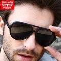 Triumph vision marca gafas de sol de aviador para los hombres originales piloto masculinas gafas de sol de moda new calidad mate negro frame shades