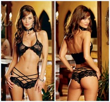Wowen Sexy Lingerie Hot Lace Strap Set Babydoll Sexy Teddy Underwear Lenceria Sexy Costumes For Women Ladies Erotic Lingerie