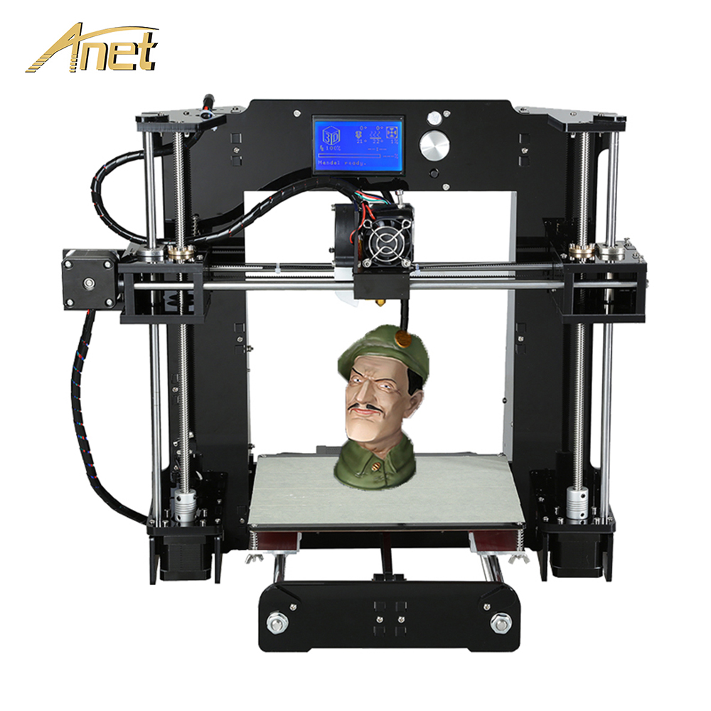 Original Anet A6/Auto leveling A6 3D printer Full Acrylic Frame Industrial machine Reprap 3d printer Kits DIY with PLA Filament zonestar newest full metal aluminum frame big size 300mm x 300mm auto level laser engraving run out decect 3d printer diy kit