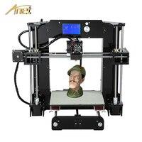 Original Anet A6/Auto leveling A6 3D printer Full Acrylic Frame Industrial machine Reprap 3d printer Kits DIY with PLA Filament