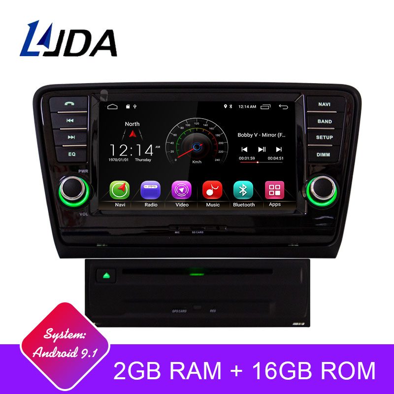 LJDA Android 9 1 Car DVD Player For Skoda Octavia 2013 2014 2015 WIFI GPS Navigation