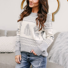 Christmas cartoon women sweaters computer knitted pullover O-neck female 2019 hot sale cute