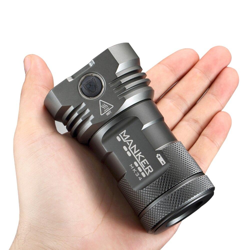 Manker MK34 LED Linterna 8000 Lumen 12x Cree XPG3 / 6500LM 12x Nichia - Iluminación portatil - foto 5