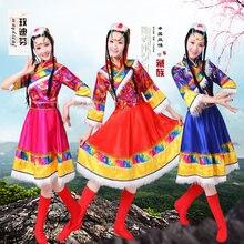 bd4c0fba214b3 كبار الأزياء لفترات محدودة disfraces مرحلة الرقص الرقص ازياء ازياء منغوليا  التبت الصينية العرقية الأكمام الملابس