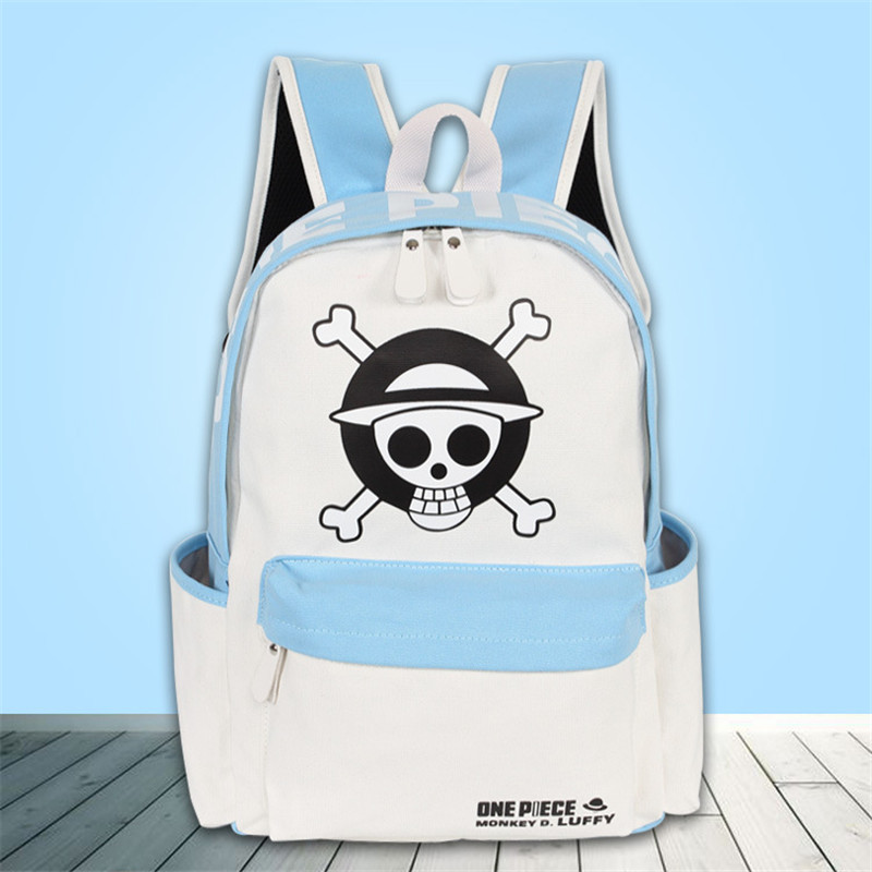2017 New Hot Anime ONE PIECE Skull Canvas Backpack Anime Bags Mochila Feminina Kawaii School Bags Laptop Backpack Travel Bags fashion new women students lovely canvas backpack college small cartoon print sathel multifunction travel bags mochila feminina