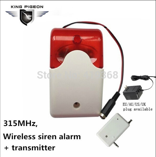 Free shipping 315Mhz Wireless Siren Alarm GSM with Stroble flash light 12V home Security Alarm System Strobe Siren( SR-60a)