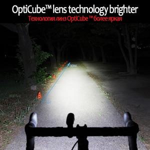 Image 4 - CATEYE Usb Rechargeable Bike Light Front Handlebar Cycling Lamp Light Waterproof Flashlight Torch Headlight Bicycle Accessories
