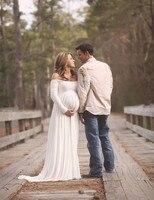 L XL XXL Maternity Dress For Photo Shoot Maxi Maternity Gown SPLIT FRONT Maternity Chiffon Gown