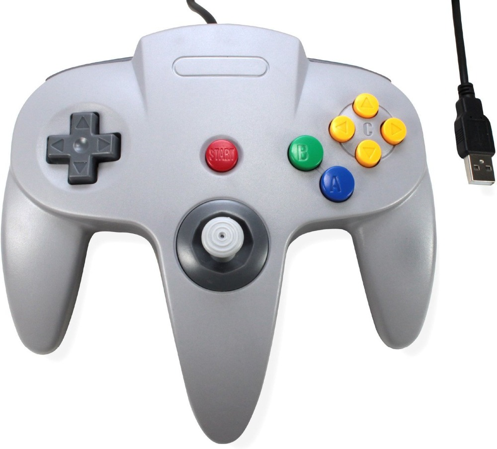 Wired USB Game Controller Gaming Joypad Joystick USB Gamepad For Nintendo For Gamecube For N64 64 PC For Mac Black Gamepad