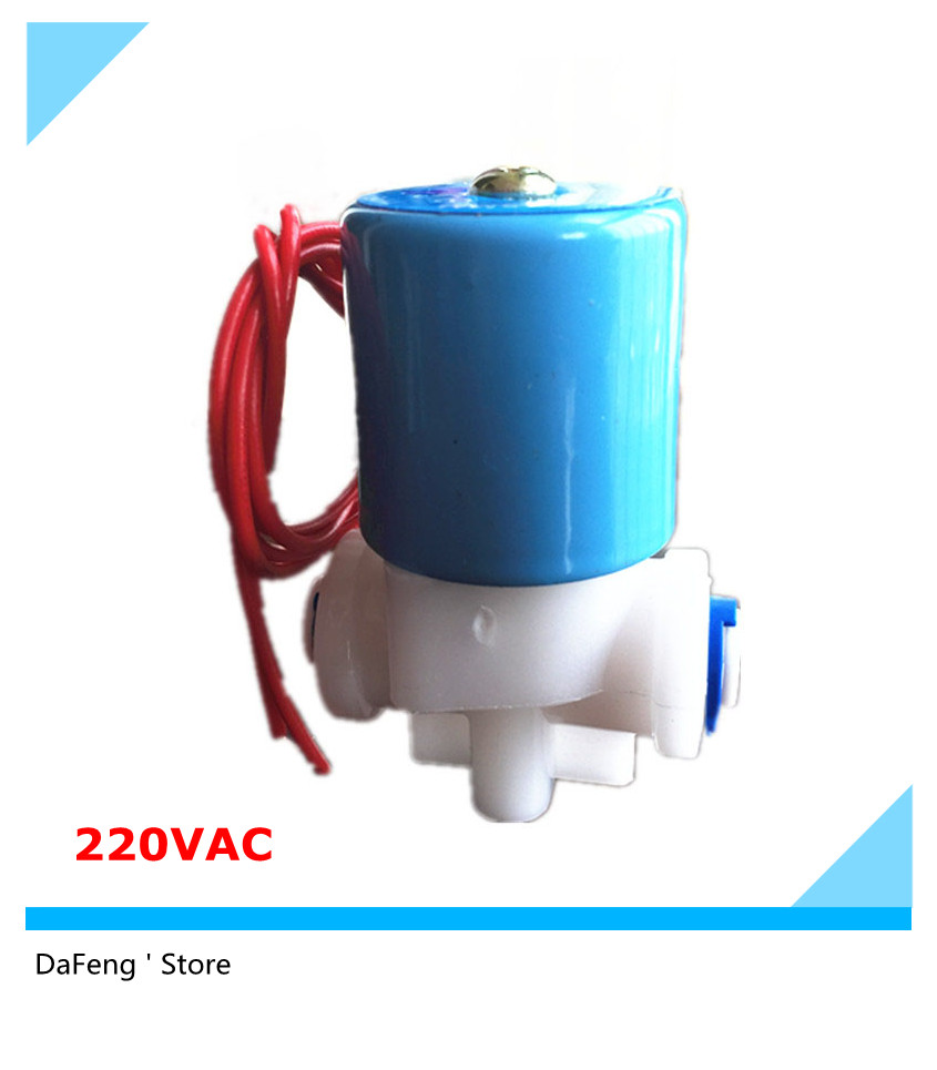 Free shipping 220Vac Solenoid valve ,quick push in connect 6.35mm water valve (R1/4) normally closed 2 Way 0-120PSI , free shipping normally closed solenoid valve 2v025 08 220vac 1 4 high qulity for water air gas 2v sereis two way valve