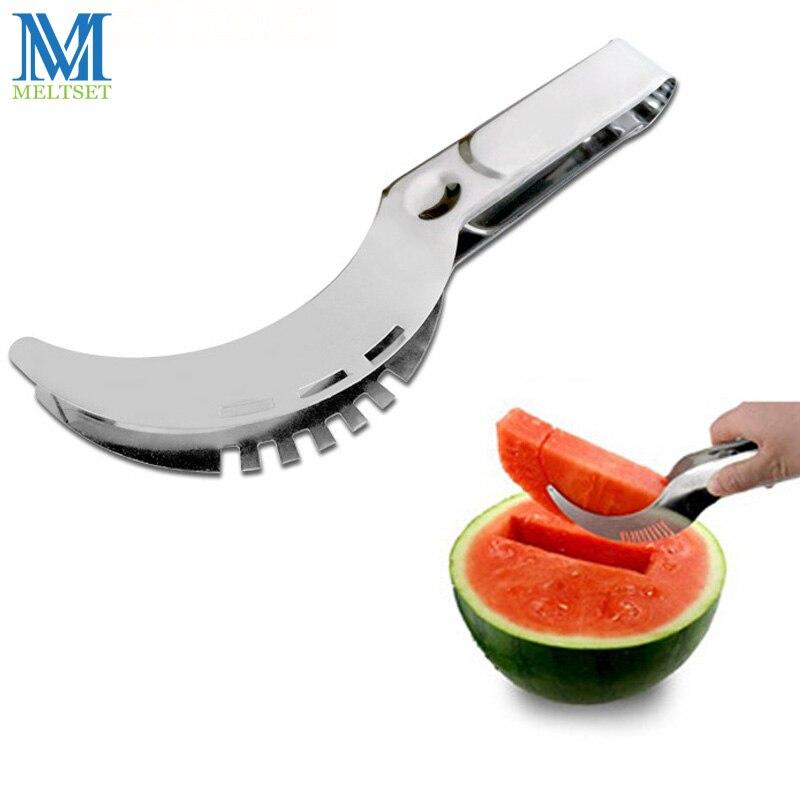 Hortalizas Corer Cortador Slicer Ensalada de Fruta de la Sandía De Acero inoxida