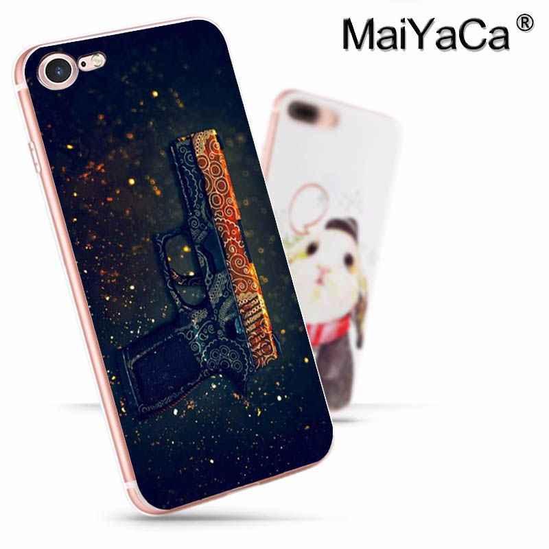 MaiYaCa CS كاونتر سترايك لعبة سلاح بندقية جديد وصول الأزياء جراب هاتف ل iphone 11 pro8 7 66S زائد X 10 5S SE XS XR XS ماكس