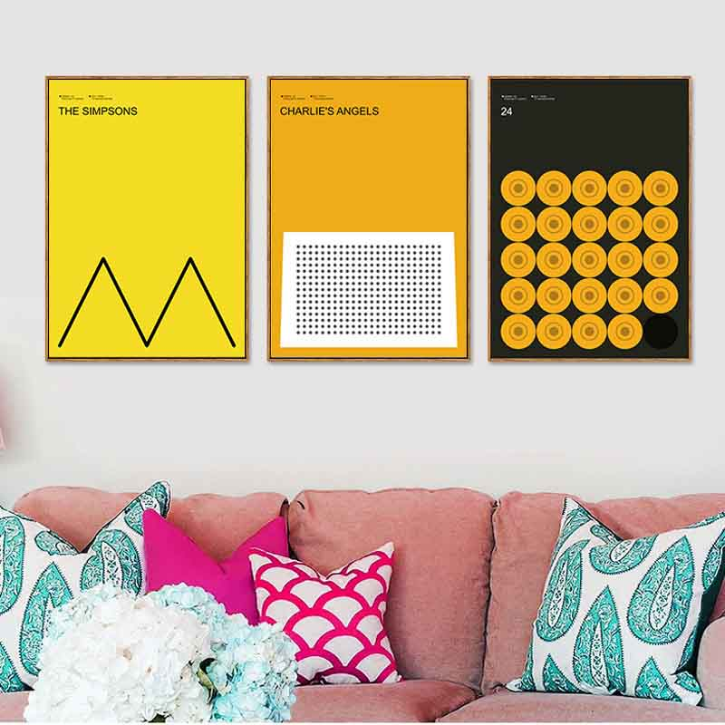 Perfect Sets Creative Modern Nordic Abstract Pattern Movie Posters ...