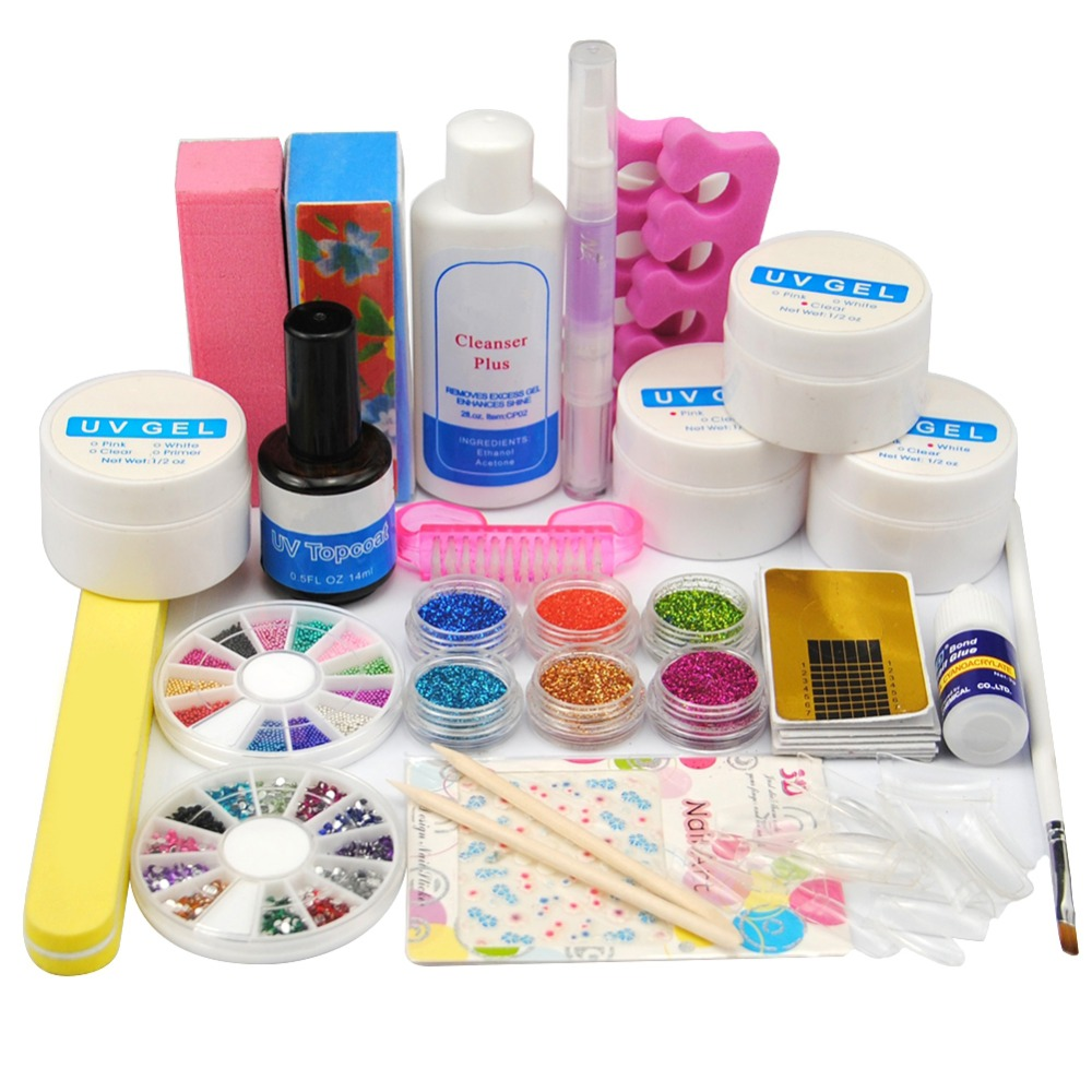 Professional Full Set UV Gel Nail Art Kit UV Top Coat