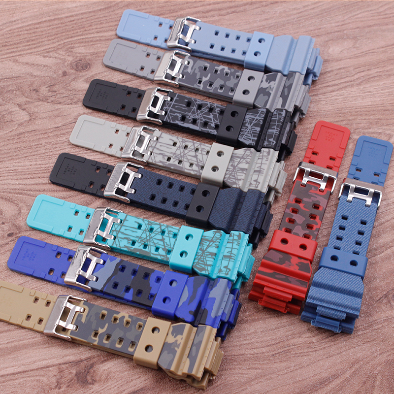 Watch Accessories Camouflage Rubber Strap Replacement   For Casio G-shock CASIO GD120GA-100GA-110GA Men's Watch Strap