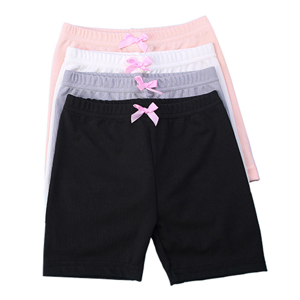 4PC Toddler Kid Baby Girls Solid Cotton Sport Lace Safety Pants Shorts Underwear