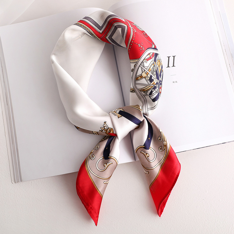2019 Spring And Summer Scarf Hair Tie Band For Business Party Women Elegant Small Vintage Skinny Retro Head Scarf Silk Satin