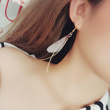 E0284 Korean Style Gold Color Butterfly Design Drop Earrings For Women Fashion Leaf Dangle Earrings Excellent Gift Party Jewelry