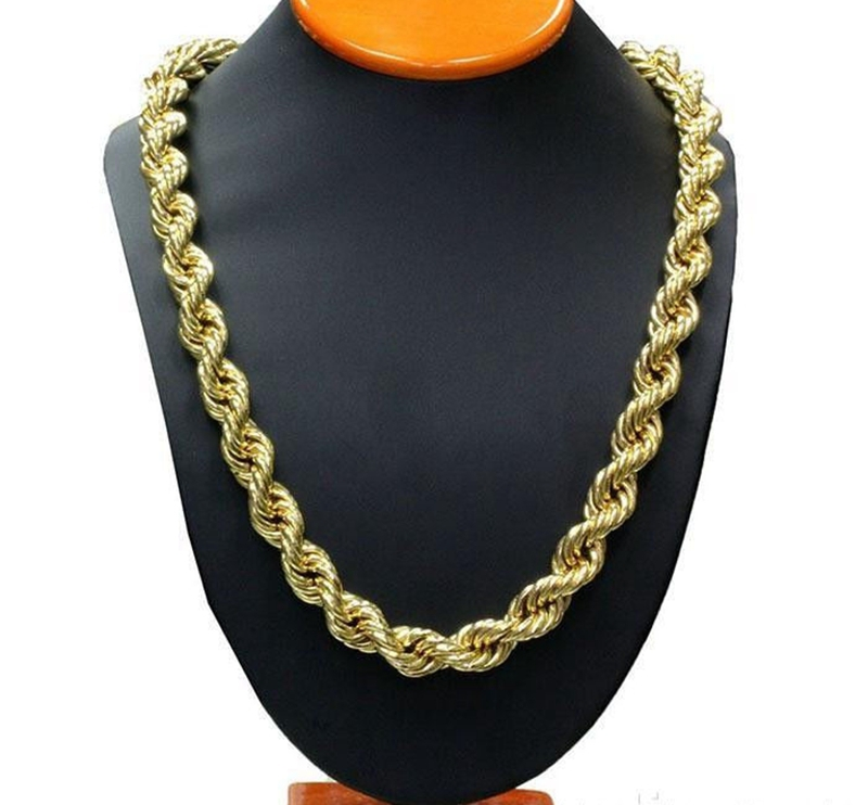 Rope Chain link Yellow Gold Filled Twisted Womens Mens Necklace Chain  23.6
