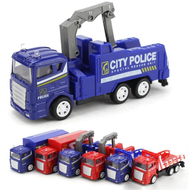 2017 1:60 Alloy Engineering Toy Mining Car Truck Children's Birthday Gift Fire Rescue Y7824
