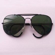 Boloban 3030 стекло объектива Солнцезащитные очки авиаторы Мужчины Женщины  58 мм пилот классический бренд очки зеркало d0bee1af6ce