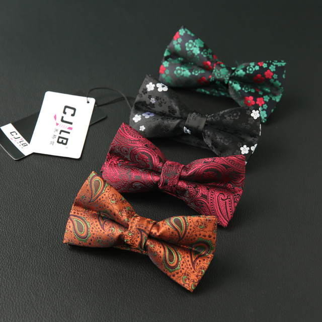 6286a8aa368f New Design Self Flexible Mens Flower Paisley Bow Tie Polyester Jacquard  Woven Bowtie Men Butterfly BowTie Wedding Tie Decorative