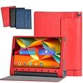 Высококачественная кожа стенд чехол Для Lenovo Tab3 Плюс, кожаный чехол Для Lenovo Yoga Tab 3 Плюс YT-X703F 10.1 дюймов Tablet