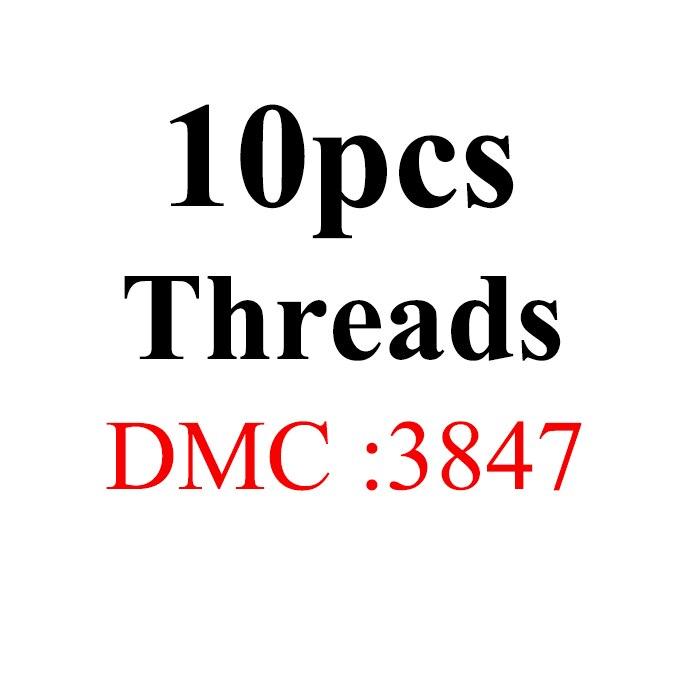 Snowlover, рукоделие, 10 шт./лот, 1,2 м, разные цвета, DMC3824-3848, вышивка крестиком, хлопковое шитье, моток пряжи, нить для вышивки - Цвет: 1.2mthread-DMC3847