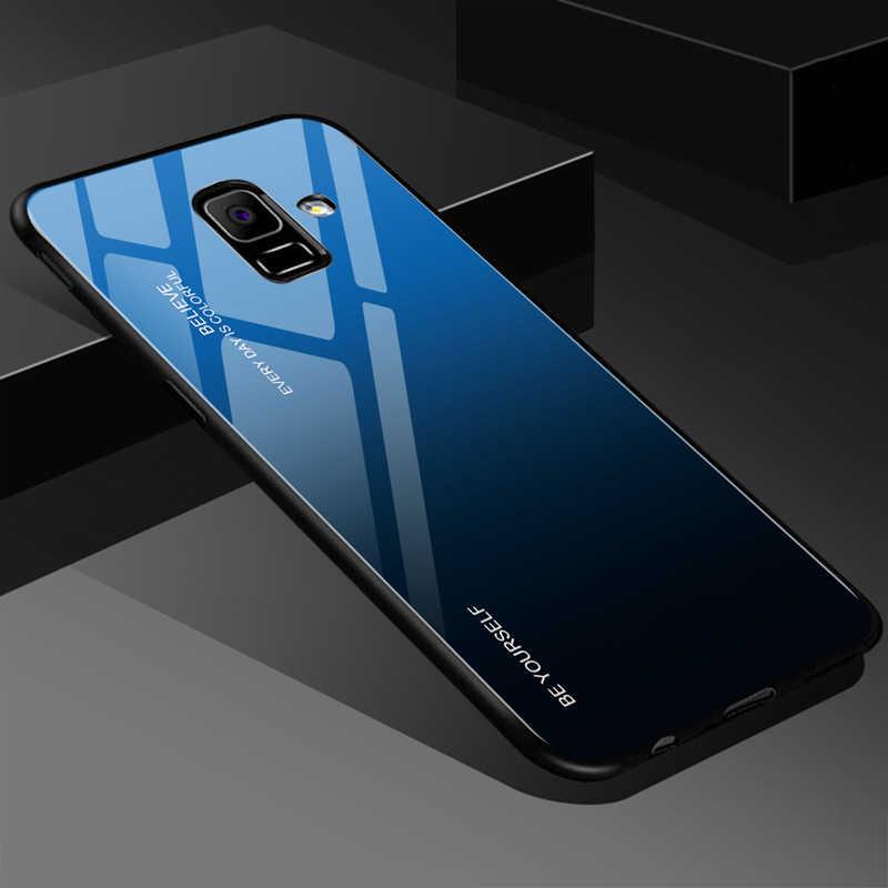 Закаленное Стекло чехол для samsung Galaxy S8 S9 S10 плюс S10e A50 A30 A70 Note 8 9 A7 J4 J6 A9 A8 A6 2019 M30 M20 градиентный чехол
