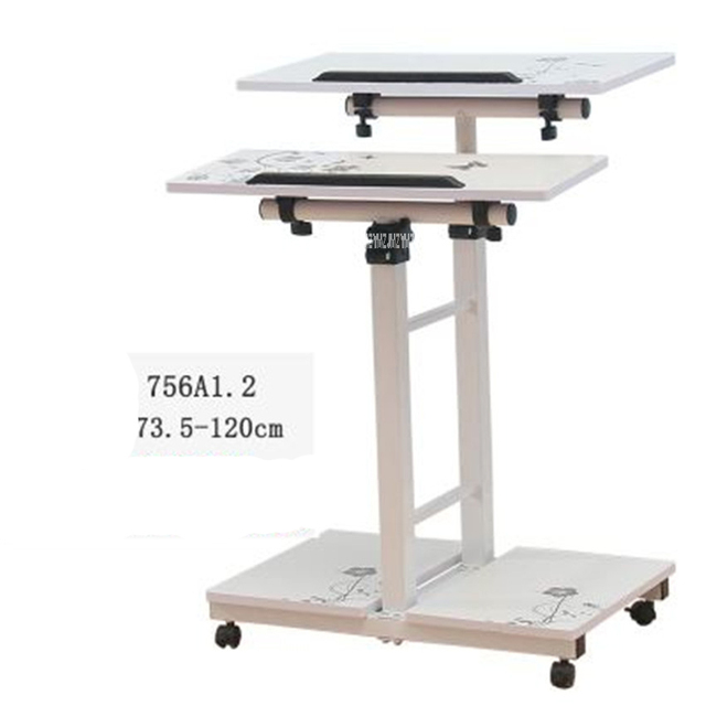Beau 756A Mutil Purpose Movable Standing Style Computer Desks Adjustable Height  Laptop Desk Wood Material Height