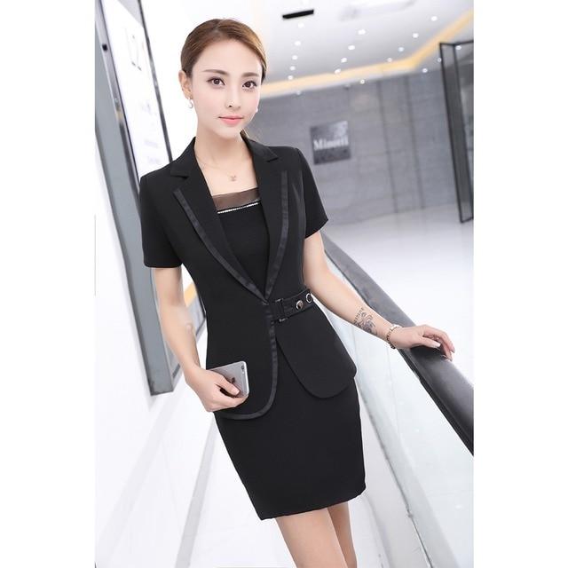Buy 2017 women work wear skirt suits for Office uniform design catalogue