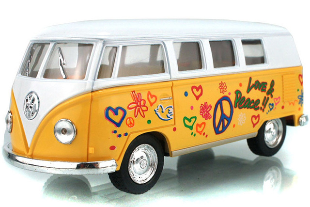 Free Shipping Kinsmart/Soft-World American Volkswagen Classic Commercial Bus Exquisite Alloy Car Model Toy Vehicles Wholesale