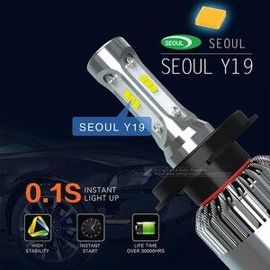 Image 4 - 2 шт., Автомобильные светодиодные лампы H1 H3 H4 H7 H8 H11 9005 9006 HB3 HB4 9012 H16 880 881 CSP COB