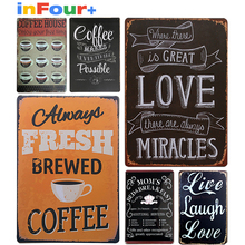 [Coffee]Shabby Chic Vintage Metal Signs 66 Route Vintage Tin Signs Pub Vintage Decorative Plates Metal Wall Art Metal Poster