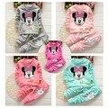 Ems / DHL envío gratis 2015new! niños niñas primavera y otoño niñas traje de niño ocasional Mickey traje