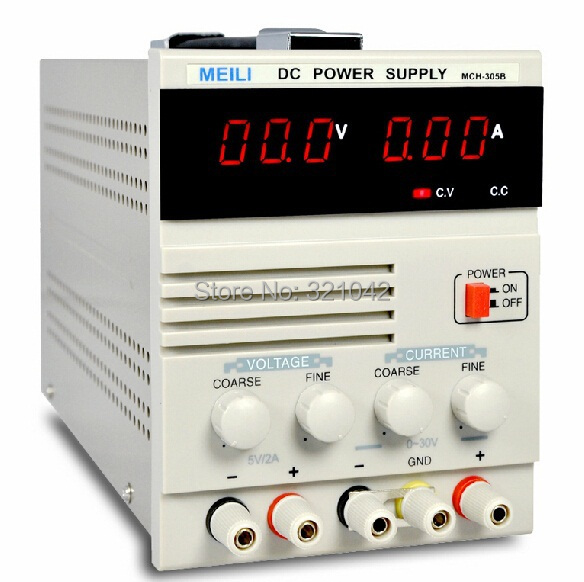 MCH-305B Linear DC Power Supply, Single Channel 30V 5A Variable with Fixed 5V 2A Output MCH 305B икона янтарная богородица скоропослушница кян 2 305