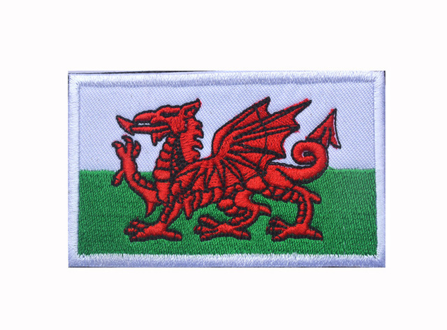 Drapeau Pays De Galles gun point vitesse moral patch gallois dragon drapeau pays de galles