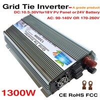 Oferta La corbata de 1300W de onda sinusoidal pura inversor Solar 18V 1500W potencia PV 10