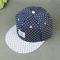 Новый Бейсбол Плоским Хип-Хоп Шапки Мужской Старинные Моды Печати Горошек snapback hat cap мужчин и женщин шляпы оптовая