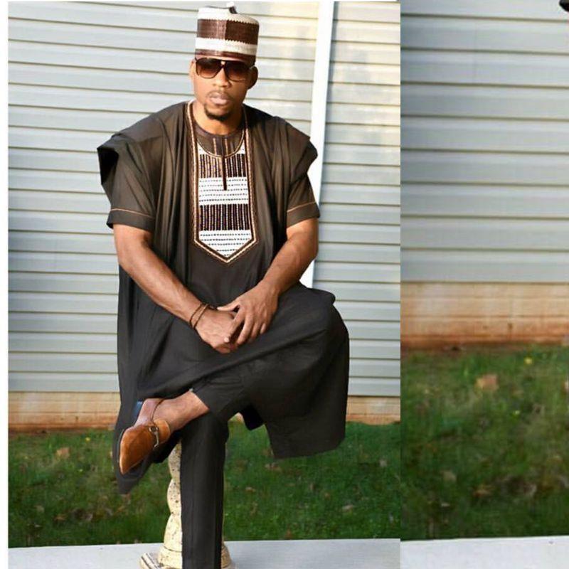 Dashikimall African Dashiki 3 pieces  Shirt  Dress Tops Pant Suits