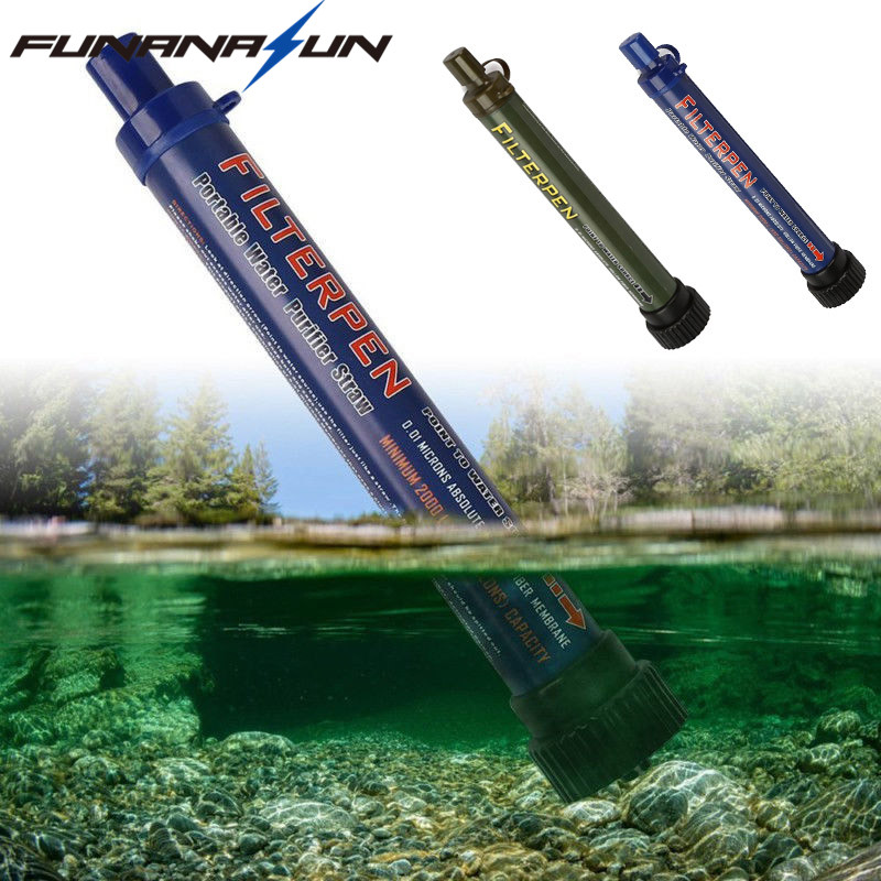 Outdoor Water Filter Purifier with Extension Tube Portable Hiking Drinking Water Cleaner ...