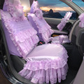 beautiful 2016 New19pcs Fashion Lace Princess Dream Car Seat Cover For Cars For Girls Universal Fit Four Seasons General