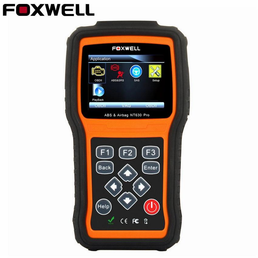 Prix pour Foxwell NT630 Pro ABS SRS Air Sac Réinitialisation Des Données de L'accident OBD 2 Universal Automotive Scanner Air Sac Code De Diagnostic-Outil NT630 lecteur