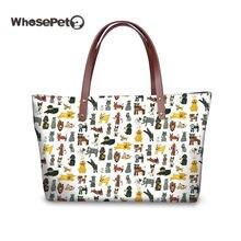 3d155c1c0e WHOSEPET Dogs Halloween Printed Women Handbags Female Luxury Bags Designer  Top-Handle Tote Handbag Larger