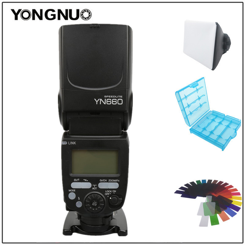 YONGNUO YN660 Sans Fil Flash Speedlite GN66 2.4G Sans Fil Radio Maître Esclave pour Canon Nikon Pentax Olympus d3400 1100d 1300d